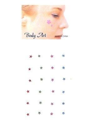 Fancy gezicht/body jewel ster multi