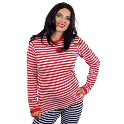Foto van Gestreepte trui rood/wit dames
