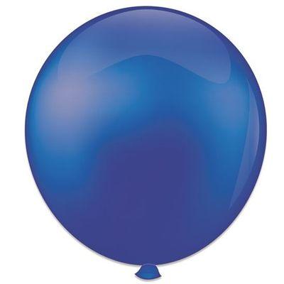 Topballon kristal blauw (91cm) 6st
