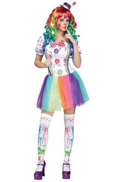 Clown kostuum multicolor