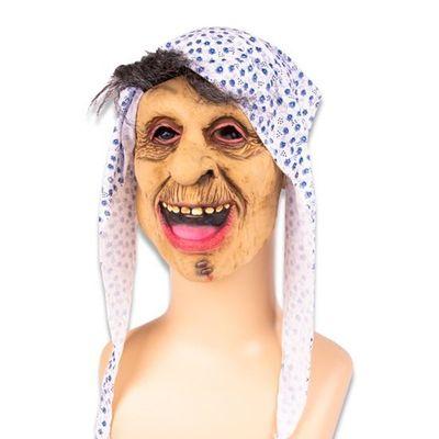 Masker heks met blauwe hoofddoek