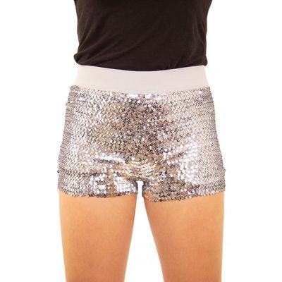 Foto van Glitter broekje showgirl zilver