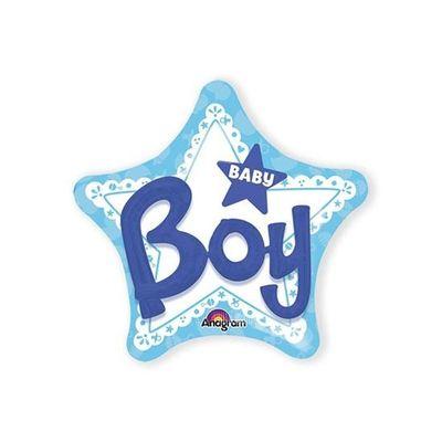 Foto van Folieballon Baby Boy 3D