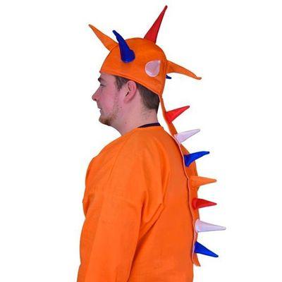 Oranje hoed met stekels