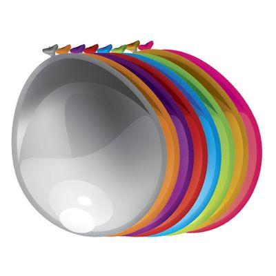 Ballonnen Metallic Assorti kleur 50st
