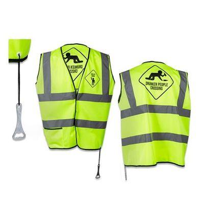 Neon geel veiligheidsvest 'drunk'