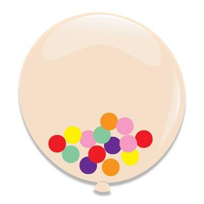 Foto van Ballonnen assorti Confetti (60cm) 3st