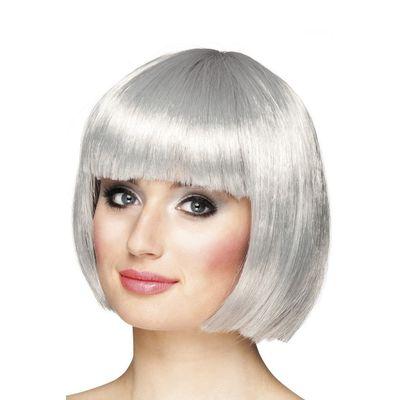 Foto van Pruik Bobline zilver/grijs kort model