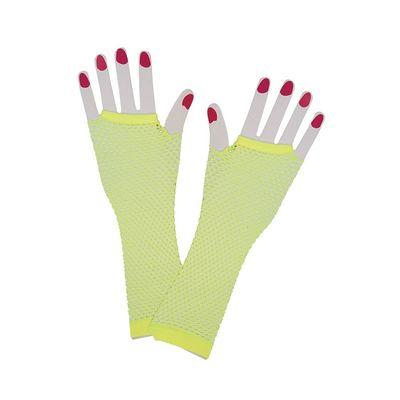 Net handschoenen neon geel