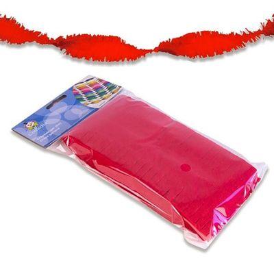 Foto van Crepe papier slinger rood 6m