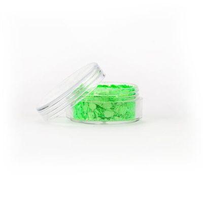 Festival glitter Neon groen chunky