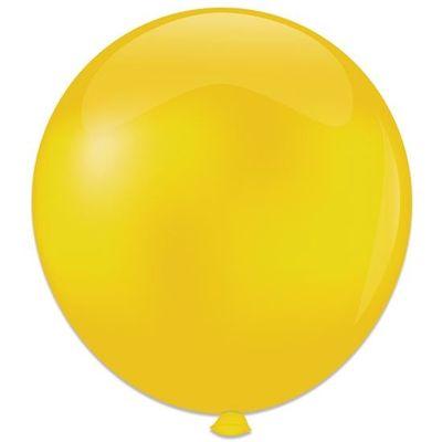 Topballon kristal geel (91cm) 6st