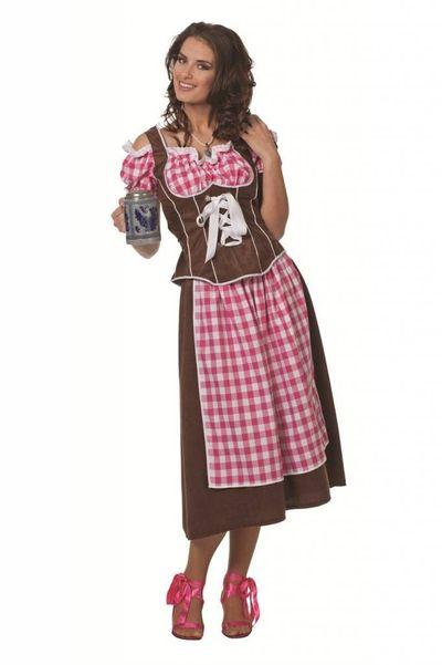 Lange dirndl jurk (grote maten) Esmee