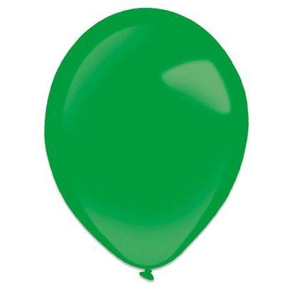 Ballonnen festive green metallic (35cm) 50st