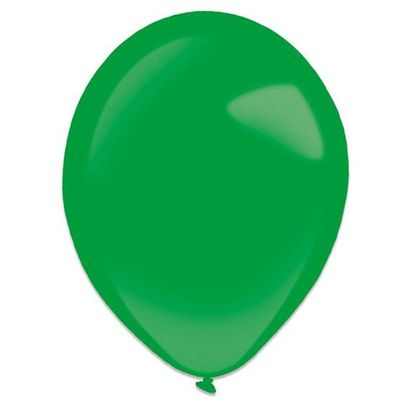 Foto van Ballonnen festive green metallic (35cm) 50st