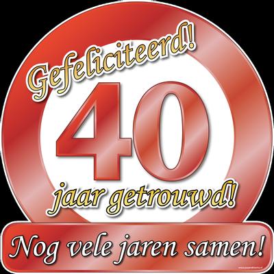 Foto van Hulde schild 40 jaar getrouwd