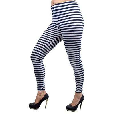 Foto van Gestreepte legging blauw wit
