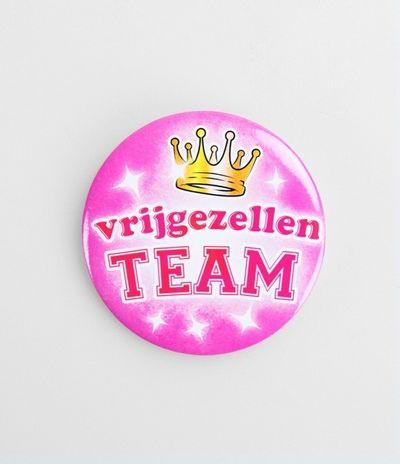 Button Vrijgezellen Team dames