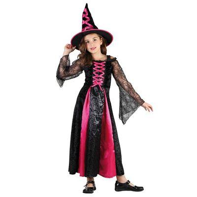 Heksenjurk kind - Zwart/roze