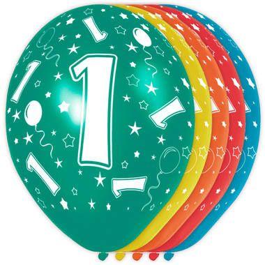 Leeftijd ballonnen 1 jaar 5 stuks