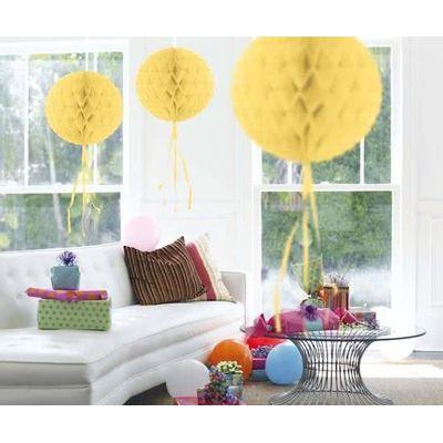 Honeycomb bal zacht Geel 30cm