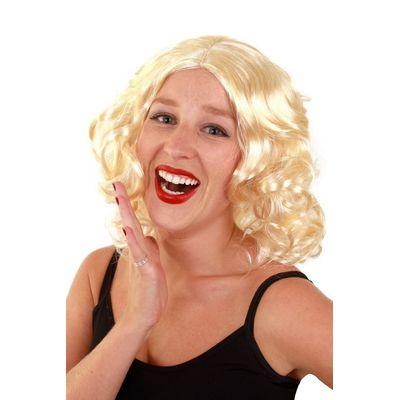 Foto van Pruik met krullen blond