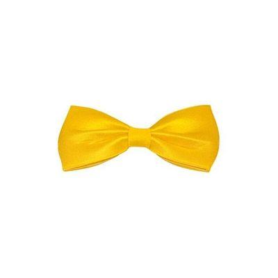 Vlinderdas 13,5 cm geel