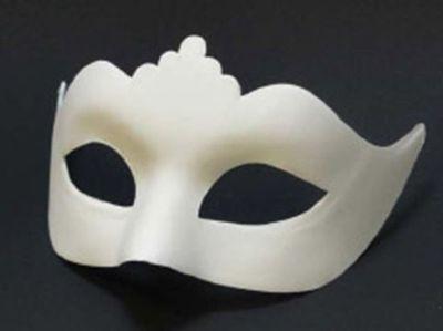 Venetiaans masker wit - koningin
