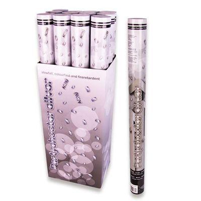 Confetti kanon 60 CM Zilver kleurvast BV