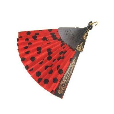 Spaanse waaier rood/zwart