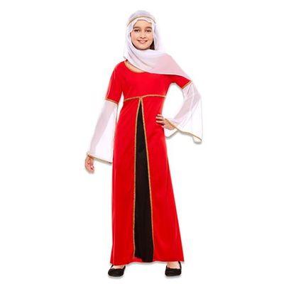 Foto van Middeleeuwse rode jurk kind