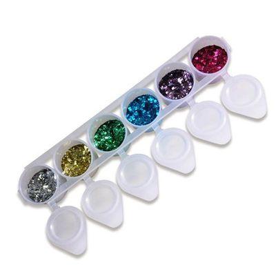 Biologisch afbreekbare Chunky glitter 6-pack