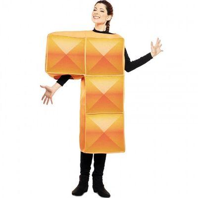 Tetris kostuum oranje