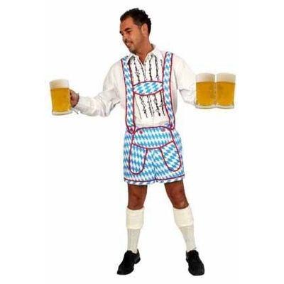 Foto van Oktoberfest jodelbroek blauw/wit heren
