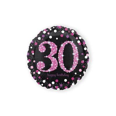 Folie ballon 30 jaar roze