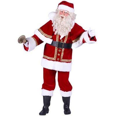 Foto van Kerstman kostuum katoenfluweel luxe