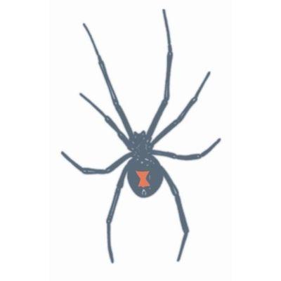 Neptattoo Zwarte spin