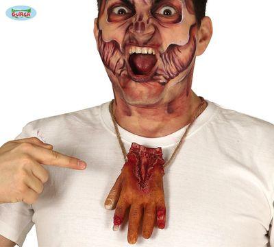 Ketting met bloederige hand