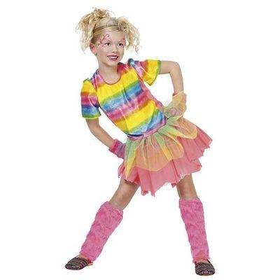 Foto van Regenboog jurkje meisje