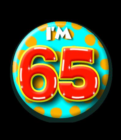 Foto van Button 65 jaar