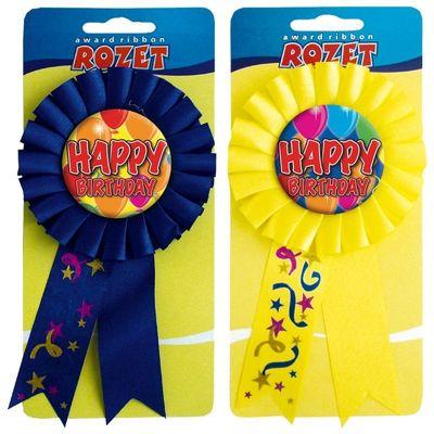 Rozet ballon happy birthday/stk
