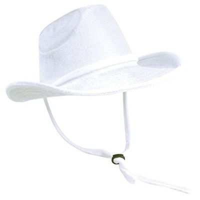 Foto van Cowboy hoed velvet wit