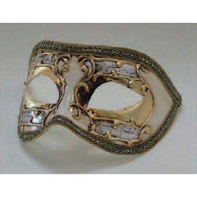 Foto van Venetiaans masker Colombina Sinfonia goud