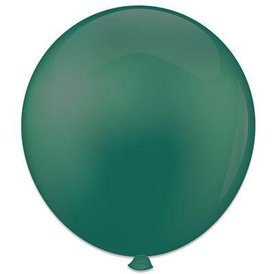 Topballon kristal groen (91cm) 6st
