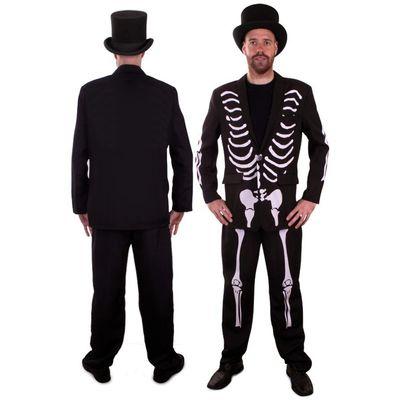 Foto van Skelet kostuum heren