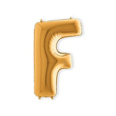 Foto van Folieballon letter F goud XL (100cm)