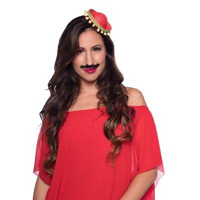 Tiara sombrero rood