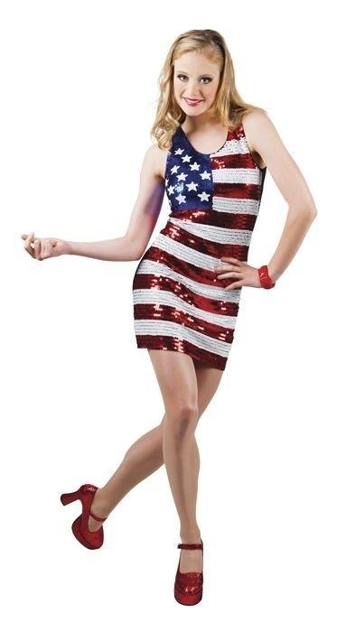 Pailletten jurkje USA