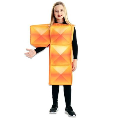 Tetris kostuum oranje kind