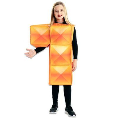 Foto van Tetris kostuum oranje kind